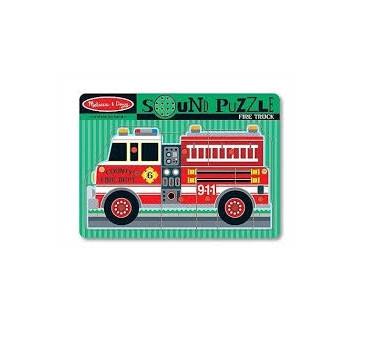 Puzzle Układanka z Dźwiękiem - Wóz Strażacki - Melissa & Doug - Montessori