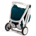 Wózek Greentom Upp Classic - white - teal (petrol) / biało - butelkowy