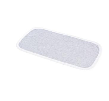 Mata do przewijania (kolor szary, lamówka biała) - 33x65 cm - Poofi