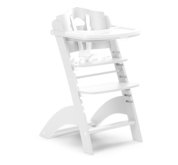 Krzesełko drewniane do karmienia dla niemowląt Lambda 2 - biały - Childhome