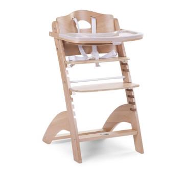 Krzesełko drewniane do karmienia dla niemowląt Lambda 2 - naturalne drewno- Childhome