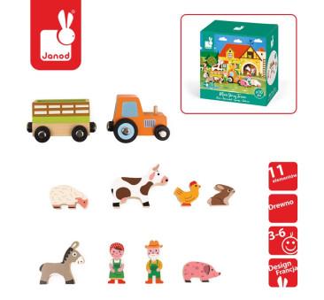 Zestaw drewniany 8 elementów - Farma - Kolekcja Story - Janod