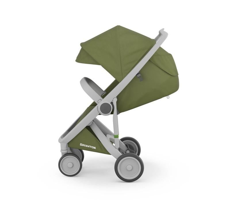 Wózek Greentom Upp Classic - grey - olive / szaro - oliwkowy