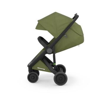 Wózek Greentom Upp Classic - black - olive / szaro - oliwkowy
