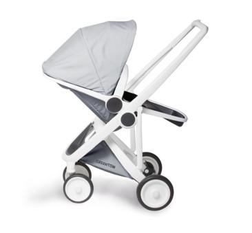 Wózek Greentom Upp Reversible - white - grey / biało - szary
