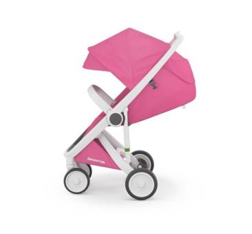 Wózek Greentom Upp Classic - white - pink / biało - rożowy