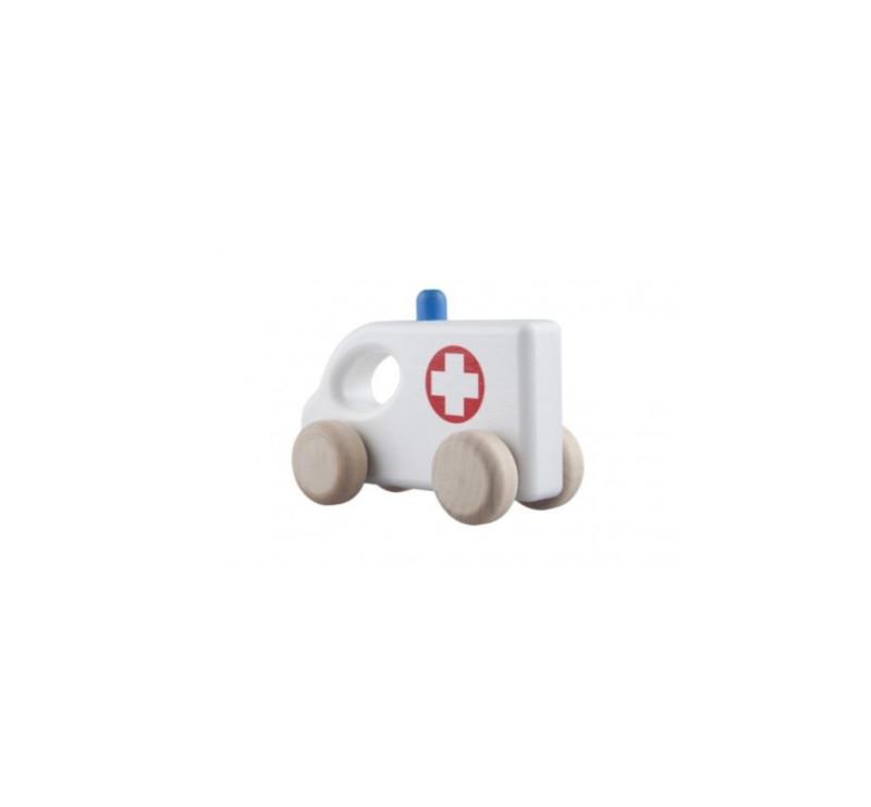 Drewniana karetka - Ambulans - LUPO TOYS