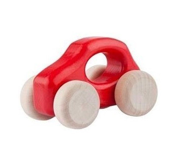 Samochodzik DREWNIANY F500 OLD czerwony autko LUPO MONTESSORI