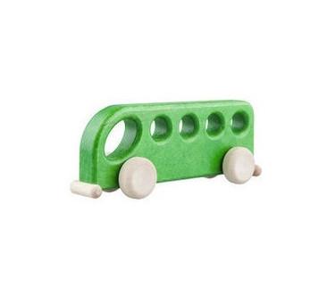 Drewniany autobus - zielony - Lupo Toys