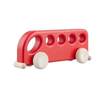 Drewniany autobus - czerwony - Lupo Toys