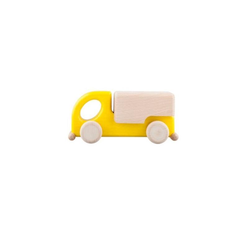 Drewniany samochód dostawczy - Żuk - żółty - Lupo Toys