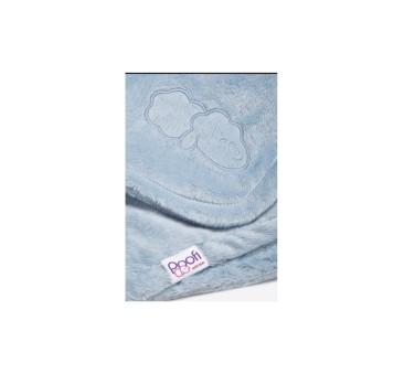 Kocyk Poofi (kolor niebieski, wymiary: 70x80 cm)