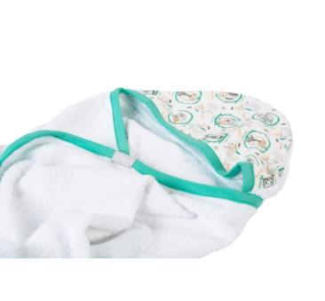Duży ręcznik z kapturkiem (wzór: sowy) - 130×75 cm