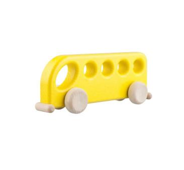 Drewniany autobus - żółty - Lupo Toys