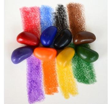 Crayon Rocks 8B - kredki stożkowe kamyki - 8 sztuk w bawełnianym woreczku