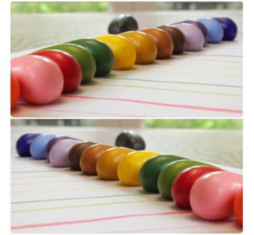 Crayon Rocks - kredki stożkowe kamyki - 16 sztuk w bawełnianym woreczku