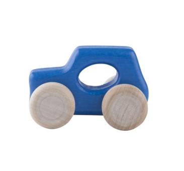 Drewniany samochodzik - Mini UK - Lupo Toys - niebieski