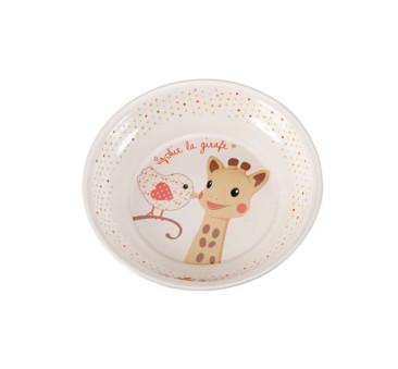Żyrafka Sophie de Vulli - zestaw do jedzenia z miseczką - Kiwi (różowy)