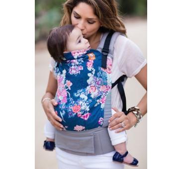 BABY TULA - nosidełko standardowe - wzór Flora Blue
