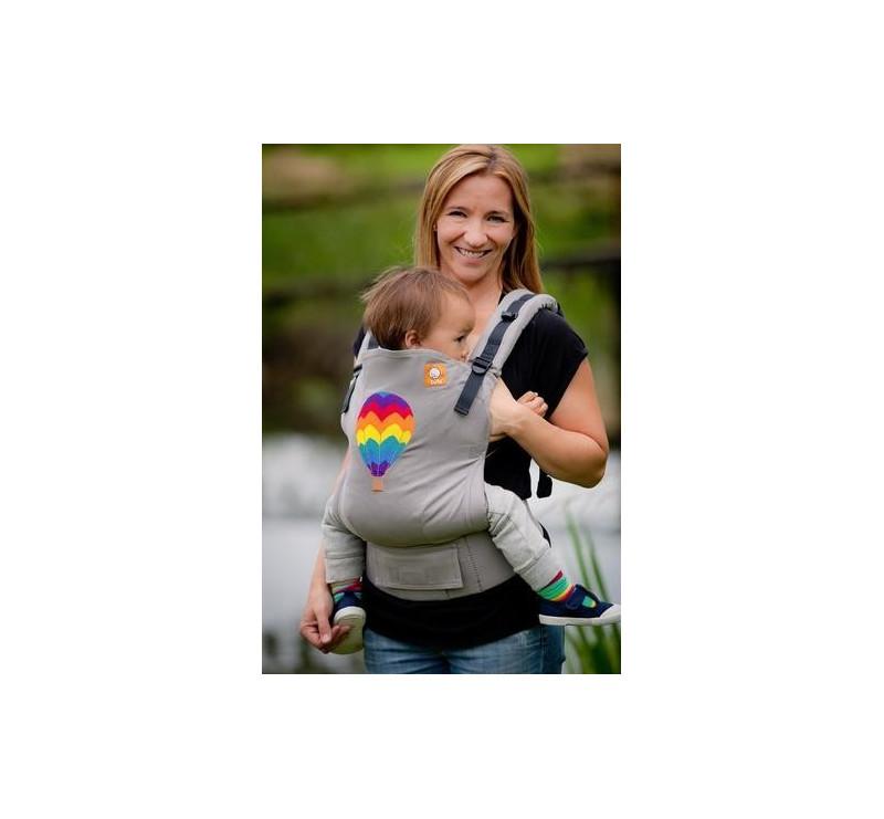 BABY TULA embroidered - nosidełko standardowe z haftem - wzór Hot Air Balloon