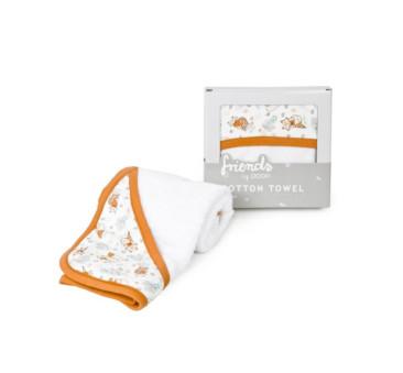 Ręcznik z kapturkiem - liski - ruda lamówka - Poofi - 85? 85 cm