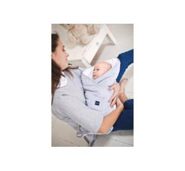 Rożek bawełniany dla noworodka - szaro-biały - Poofi