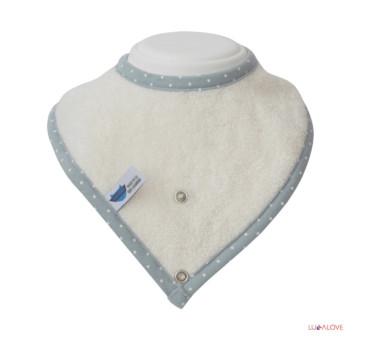 SupeRRO baby eco biały - śliniak z drewnianym gryzakiem - LullaLove