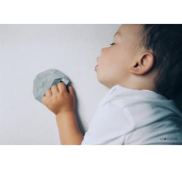 SupeRRO baby hevea szary- śliniak z kauczukowym gryzakiem - LullaLove