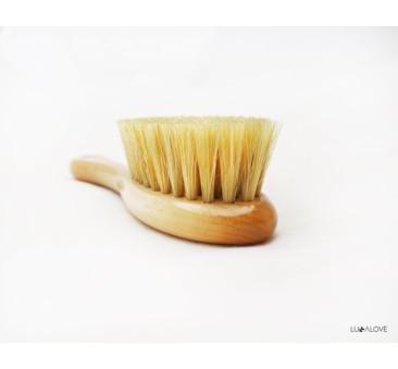 Szczotka z naturalnego włosia MrB i muślinowa myjka - LullaLove SPA