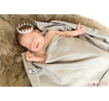 SupeRRO newborn gray - szary kocyk/otulacz bambusowy 70x70 - LullaLove