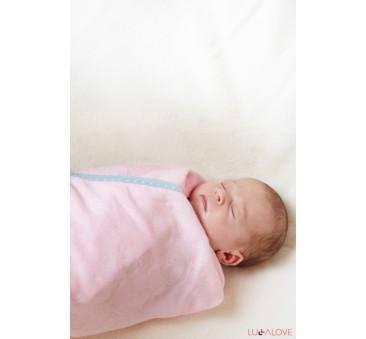 SupeRRO newborn pink - różowy kocyk/otulacz bambusowy 70x70 - LullaLove