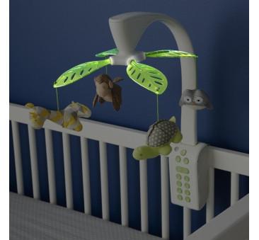 Karuzela z projektorem i pozytywką do łóżeczka i kołyski Safari SKIP HOP