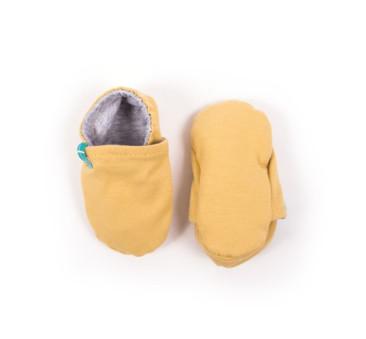 Papcie niemowlęce - Titot Newborn - Mustard Organic - rozmiar 0-3 miesięcy