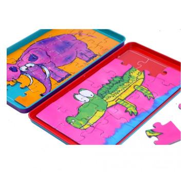 Puzzle magnetyczne - Podróżna gra magnetyczna The Purple Cow