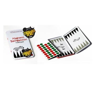 Backgammon / Tryktrak - Podróżna gra magnetyczna The Purple Cow