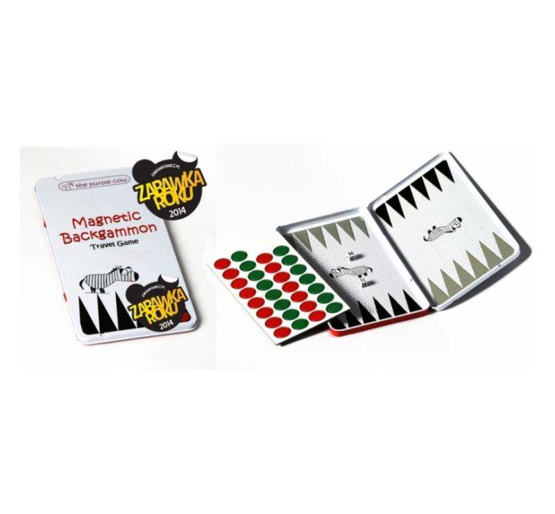 Podróżna gra magnetyczna The Purple Cow - Backgammon / Tryktrak