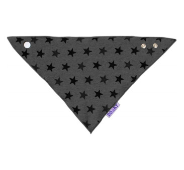 DOOKY - Chustka, śliniak, bandamka Dribble Bib - Grey Stars